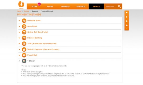 U Mobile Payment Methods 7-11