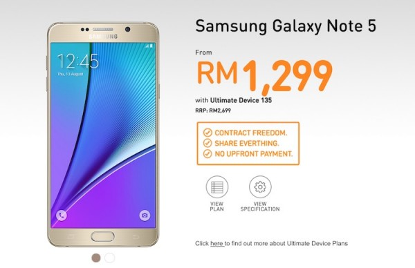 U Mobile Samsung Galaxy Note 5