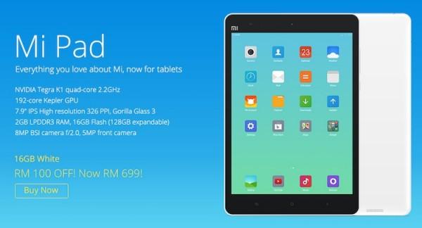 Xiaomi Mi Pad RM699