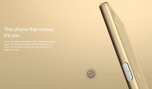 Xperia Z5 Fingerprint Sensor