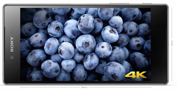 Xperia Z5 Premium 4K display