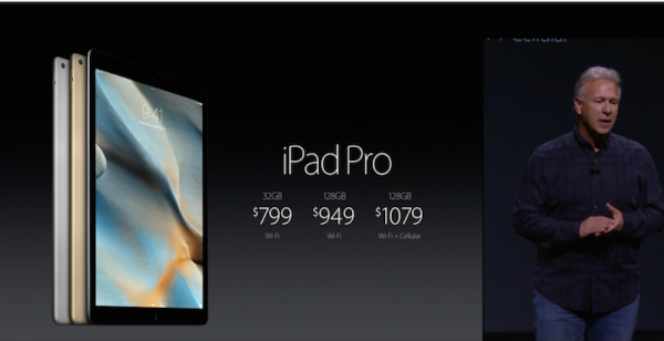 iPad Pro Pricing and Availability 2