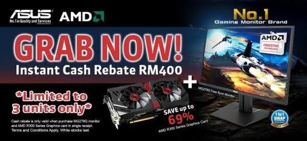 ASUS Malaysia MG279Q Free Sycn Gaming Monitor and AMD Radeon 300 Series Promo