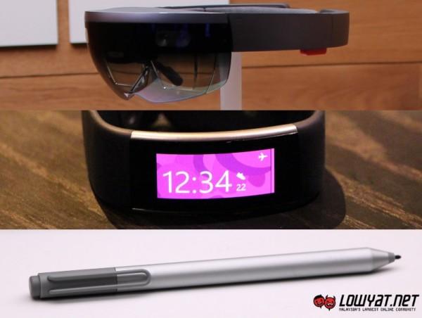 Microsoft HoloLens, Microsoft Band 2, 2015 Surface Pen