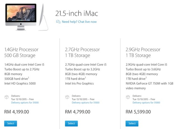 21.5 Inch iMac Oct 2015