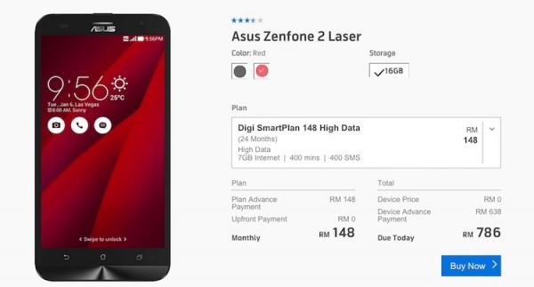 Digi Asus ZenFone 2 Laser