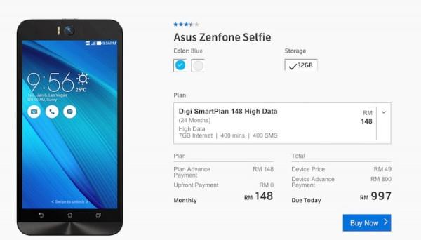 Digi Asus ZenFone Selfie Bundle