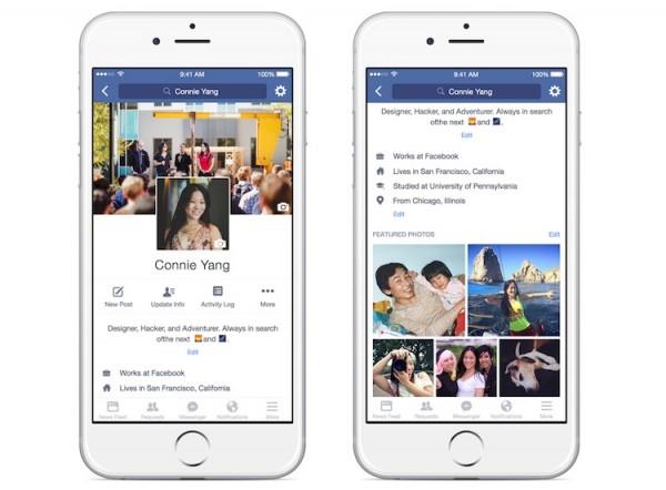 Facebook Profile Redesign 2
