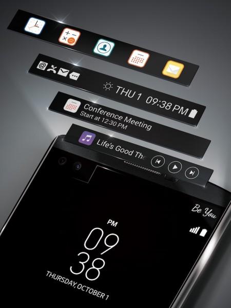LG V10 Dual Display
