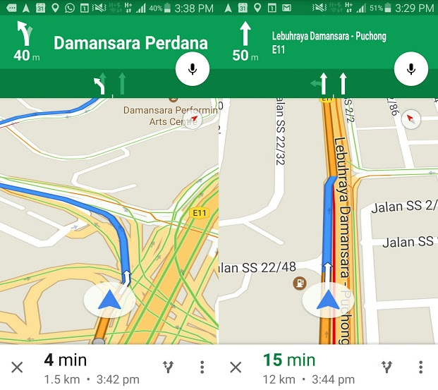 Google Maps Introduces Lane Guidance In Malaysia | Lowyat.NET