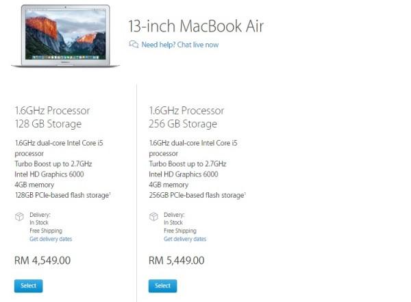 Macbook Air Price 14-10-15