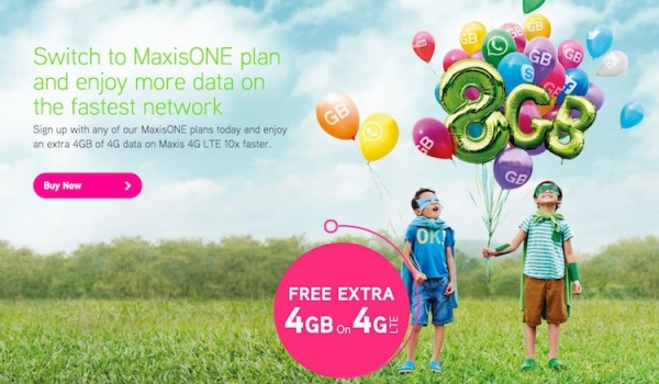 Maxis Free 4GB Data on 4G LTE