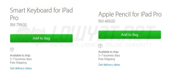 Apple Pencil and Smart Keyboard Price For Malaysia