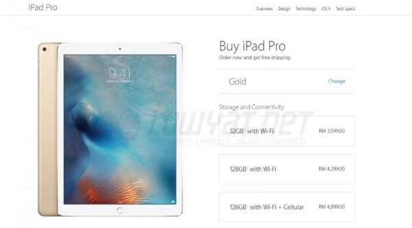 Apple iPad Pro Price For Malaysia