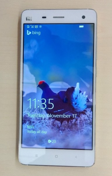 Windows 10 Mobile on Xiaomi Mi 4