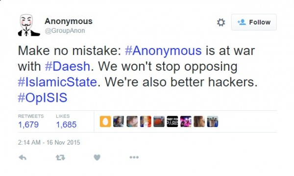 Anonymous Declares War