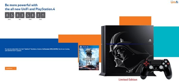 TM Unifi Star Wars PS4 Pre-order