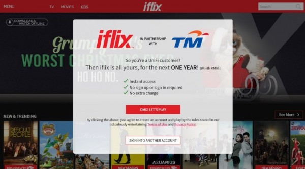 iflix For TM UniFi Subscribers