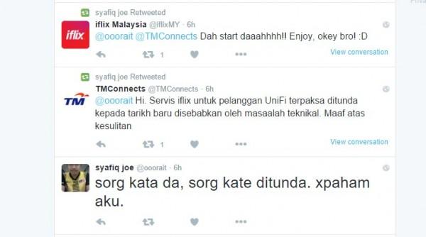 iflix and TM Responds