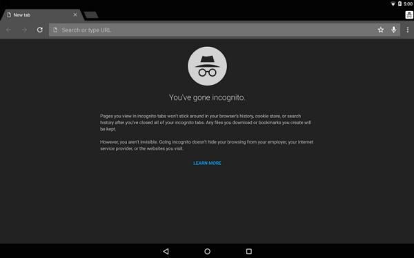 Chrome Mobile Incognito