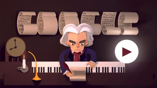 Google Doodle Beethovan