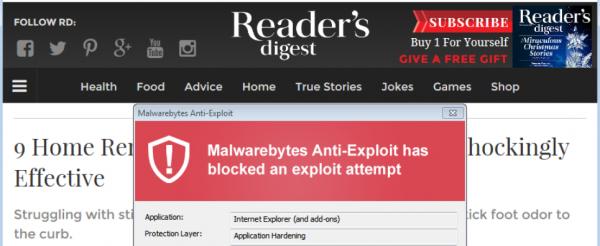 Readers Digest Malware Header