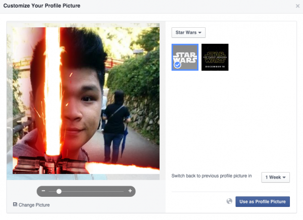 Facebook Lets Users Add A Lightsaber To Their Profile ...
