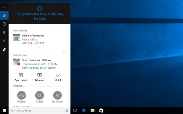 Cortana For Windows 10