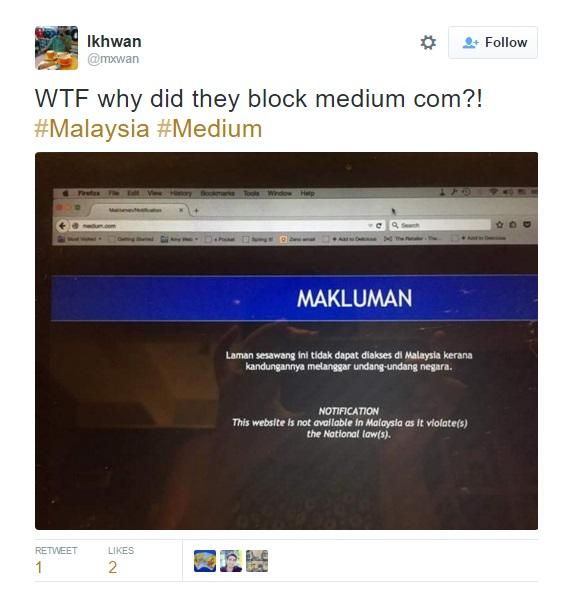 Twitter Medium banned