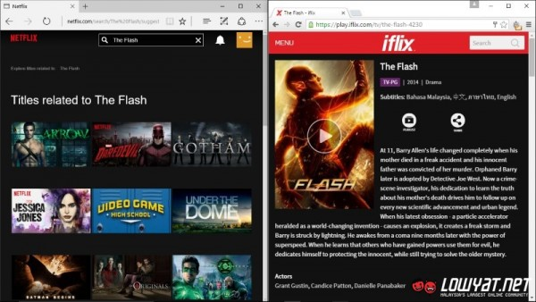 The Flash is on iflix but not Netflix