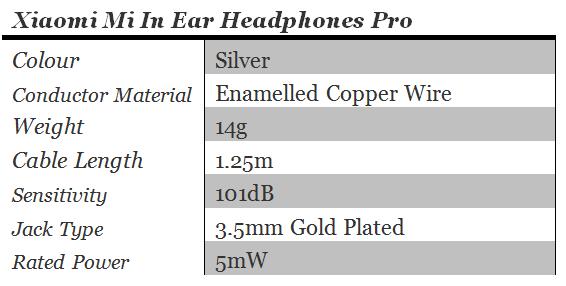 xiaomi-mi-in-ear-headphones-pro-specs