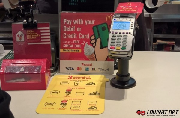 Credit Card and Debit Card at McDonald's Malaysia