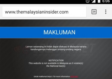 The Malaysian Insider Banned On Celcom