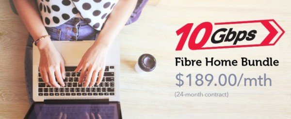 Singtel 10Gbps Home Fibre Connection