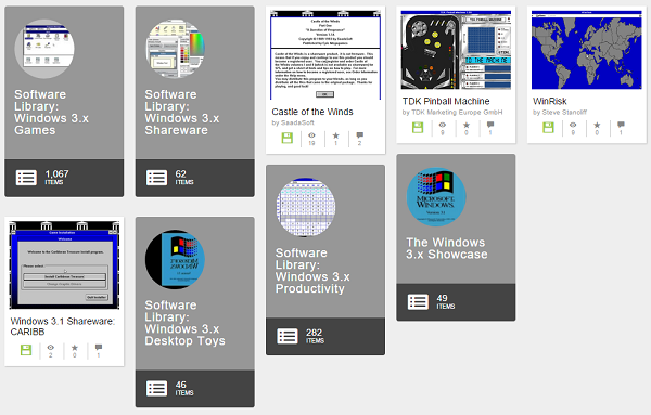 Internet Archive Windows 3.1 Collection