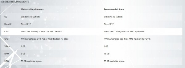 quantum break pc specs