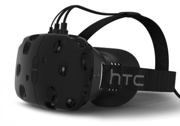 The HTC Vive is a virtual reality headset offering the most immersive experience of any VR package -- plunging people into other worlds at a moment's notice. Powered by Valve's Steam VR technology, the HTC Vive sets new industry standards in graphic quality and audio fidelity, and brings VR one step closer to mass market. HTC Vive Developer Edition made its debut at Mobile World Congress on March 1, 2015 in Barcelona, along with other HTC innovative announcements. (PRNewsFoto/HTC)