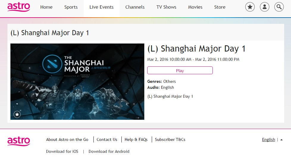 160302shanghaimThe Shanghai Major On Astro On The Go