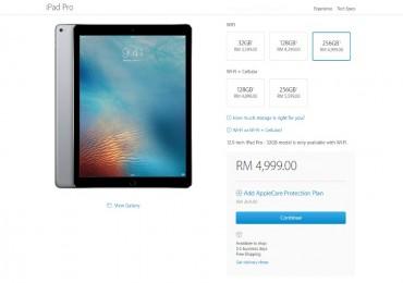 12.9-inch Apple iPad Pro Price Malaysia