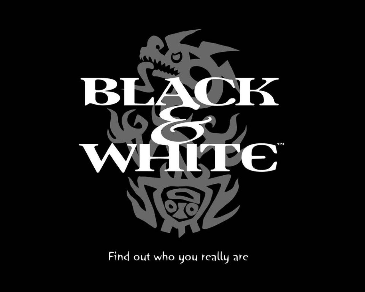 Black And White Logo
