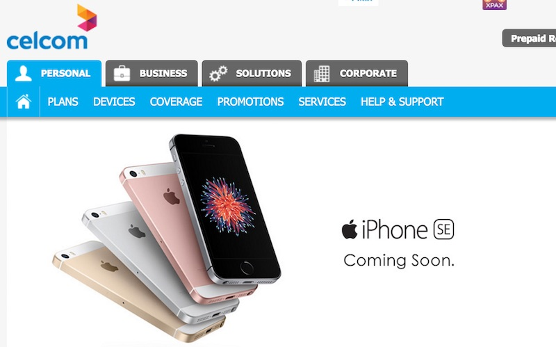 Celcom iPhone SE coming soon