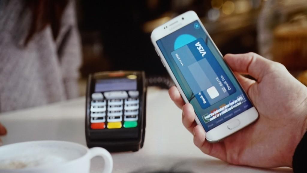 Samsung Pay Stock Photo