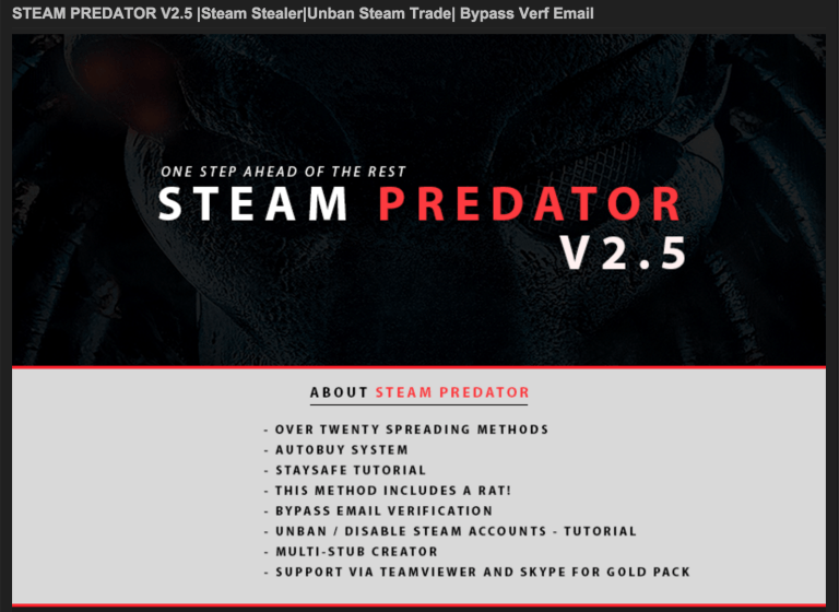 Steam Predator