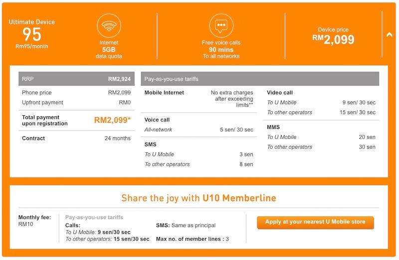 U Mobile Samsung Galaxy S7 edge Bundle UD95