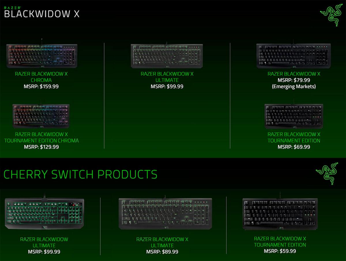 Razer Introduces Blackwidow X Mechanical Keyboards In Malaysia Tournament Edition Chroma Rgb