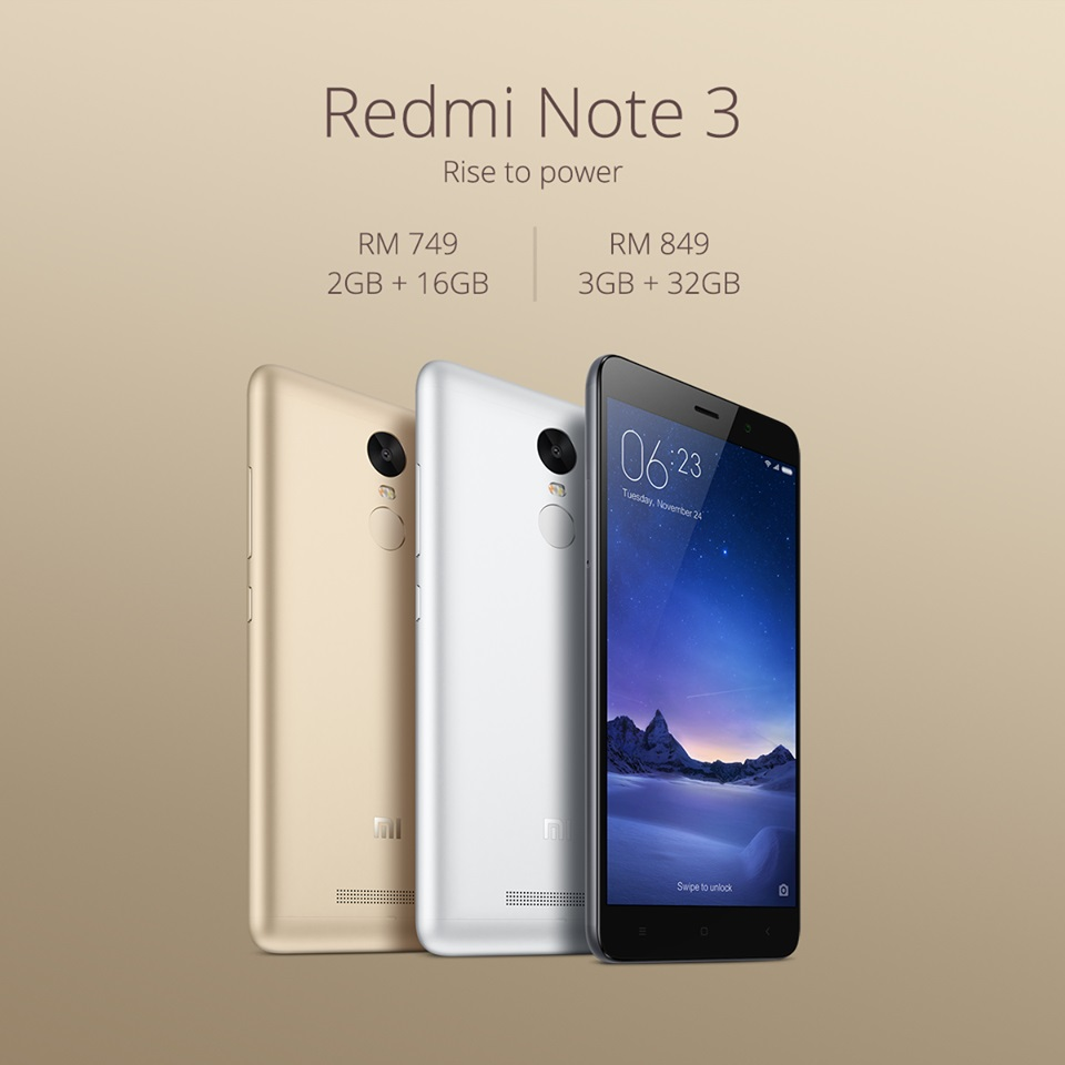 Xiaomi Officially Unveils Redmi Note 3 Prices in Malaysia ...