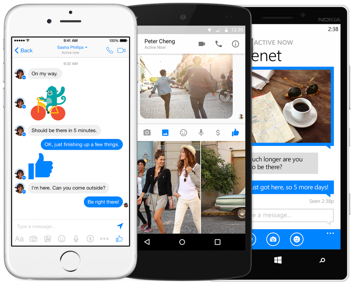 facebook messenger for iphone messenger now supports 3d touch for iphone 6s and 7165