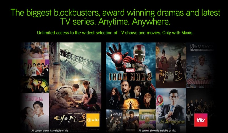 Maxis Free Trial on iflix and Viu