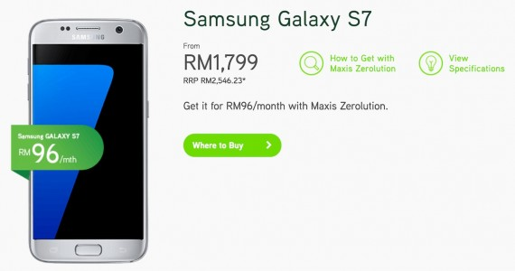 Maxis Samsung Galaxy S7 Zerolution