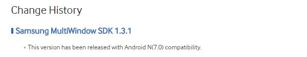 Samsung MultiWindow SDK Android N